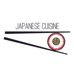 Japanese cuisine menu food logo template vector