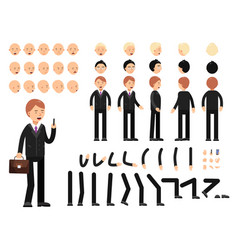 key frames of business characters creation mascot vector image