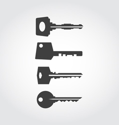 Keys Black Icon Set vector image