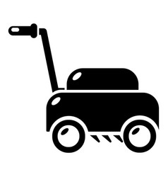 lawn mower machine icon simple style vector image