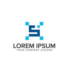 letter s pixel logo design concept template vector image