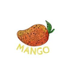 Mango Juicy Fruit Mandala vector