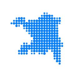 map of aargau vector image