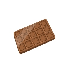 Milk chocolate bar bright color isolated vector