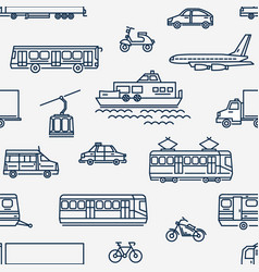 Monochrome seamless pattern with transport of vector