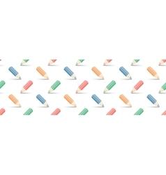 multicolored pencils on white vector image