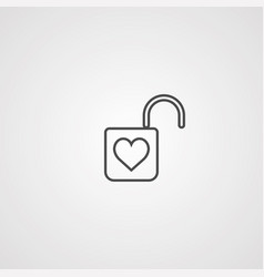 padlock icon sign symbol vector image