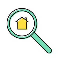 property search line icon concept vector image