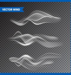 realistic wind set on transparent background vector image