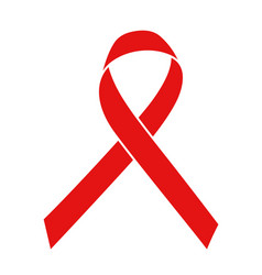 red ribbon world aids day symbol 1 december vector image