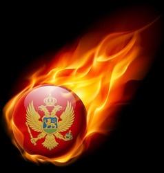 Round glossy icon of montenegro vector image