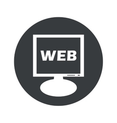 Round WEB monitor icon vector