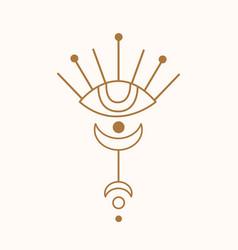 sacred geometry eye logo vector image