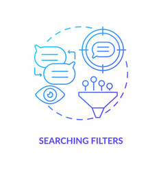 Searching filter blue gradient concept icon vector