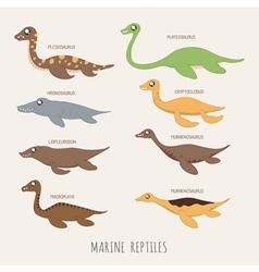 set early carnivorous dinosaurs eps10 vector image