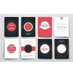 Set of brochure poster design templates in sale vector