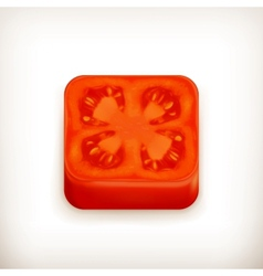 Slice of tomato app icon vector