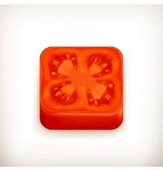 Slice tomato app icon vector