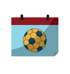 Soccer ball calendar sport flat design icon vector