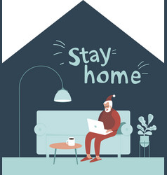 Stay home this christmas vector