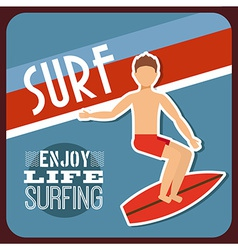 surfing sport vector image