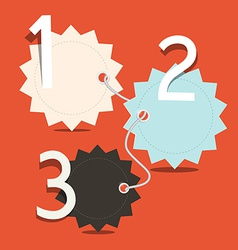 Three Steps Infographics Layout - Empty Tags vector image