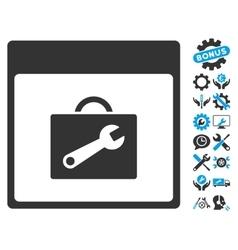 Toolbox Calendar Page Icon With Bonus vector