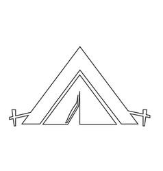 tourist tent icon design vector image