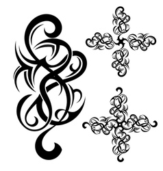 Tribal art tattoo vector image