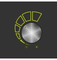 Volume Control Isolated on Gray Background vector image