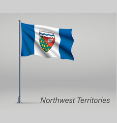Waving flag northwest territories - province vector