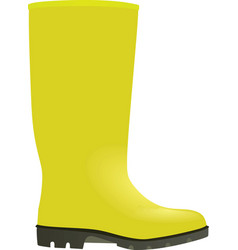 Yellow wellie vector