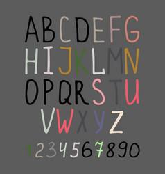 Calligraphy alphabet on grey background vector