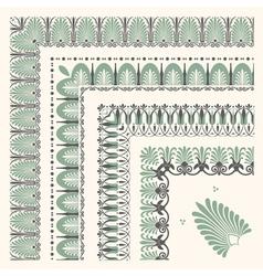 Decorativa corners vector image vector image