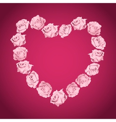 Heart from pink roses vector image