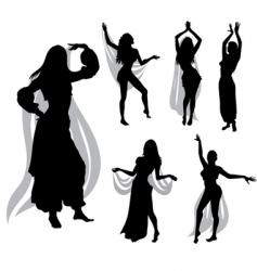 belly dance vector image