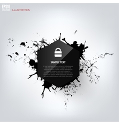 Black abstract geometric background with splash vector image