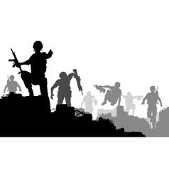 Combat troops vector image vector image