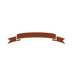 decorative scroll ribbon banner decoration icon vector image