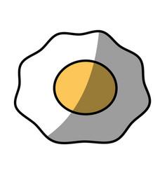 fried egg breakfast food vector image