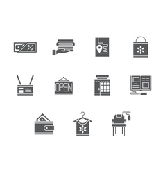 Household e-store glyph style icons set vector image vector image