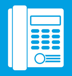 office business keypad phone icon white vector image