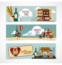 Paris Touristic Banner vector image