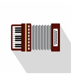 Russian folk accordion icon flat style vector image