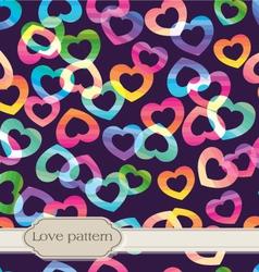 seamless rainbow hearts vector image vector image