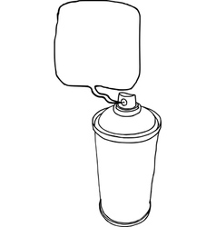 spray can hand drawn liquid line on a white backgr vector image