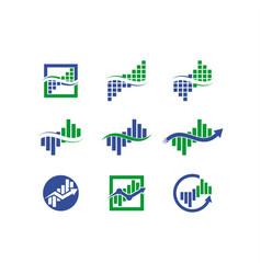 wave analytics logo vector image
