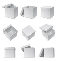White boxes vector image vector image