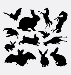 animal collection silhouette vector image vector image