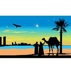 Arabian Travelers vector image
